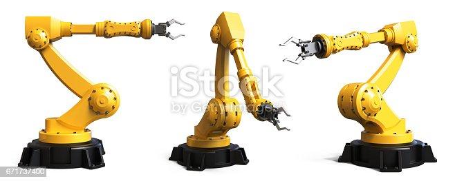 istock Industrial robots 671737400