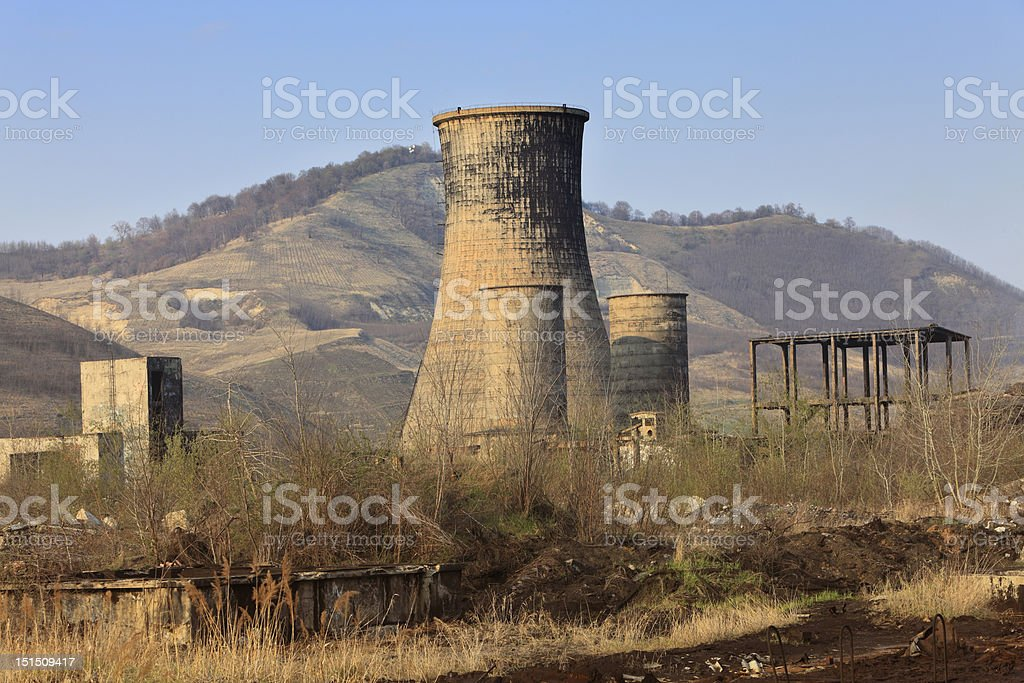 Industrial ruins royalty-free stock photo