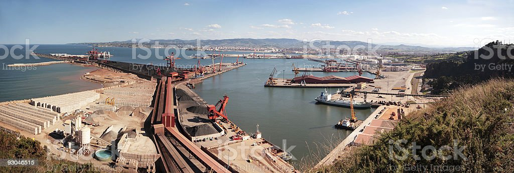 Industrial sea port royalty-free stock photo