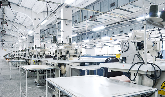 Industrial Sewing Machines in a row