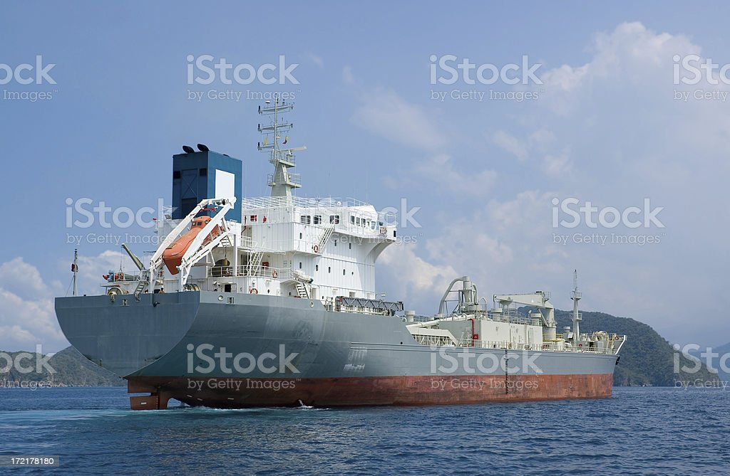 Industrial Ship royalty-free stock photo