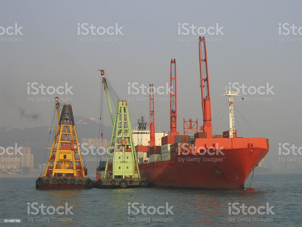 Industrial Ship stock photo
