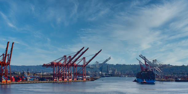 Industrial Shipping in Seattle Harbor – Foto