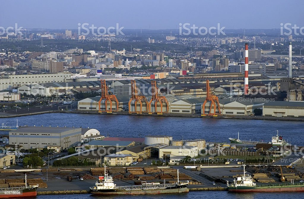 Industrial Shipping Cranes stock photo