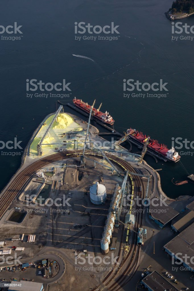 Industrial Site Aerial stock photo