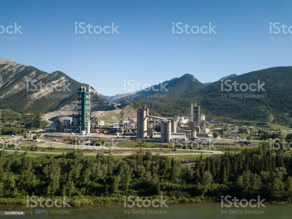 Industrial Site in Alberta stock photo