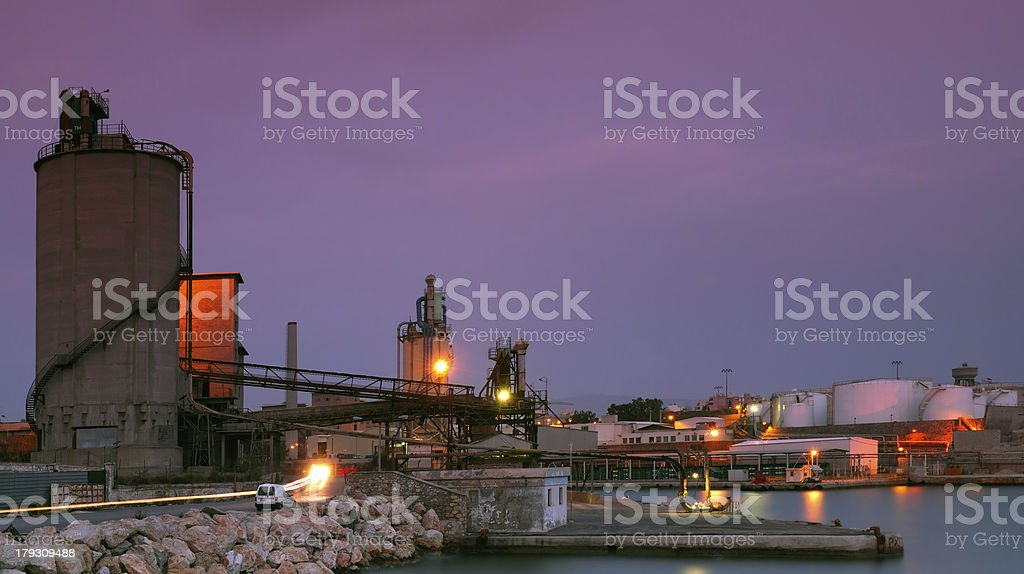 Industrial site in Piraeus, Greece royalty-free stock photo
