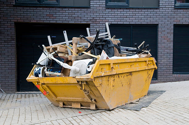 industrial skip, overflowing - garbage bin stock photos and pictures