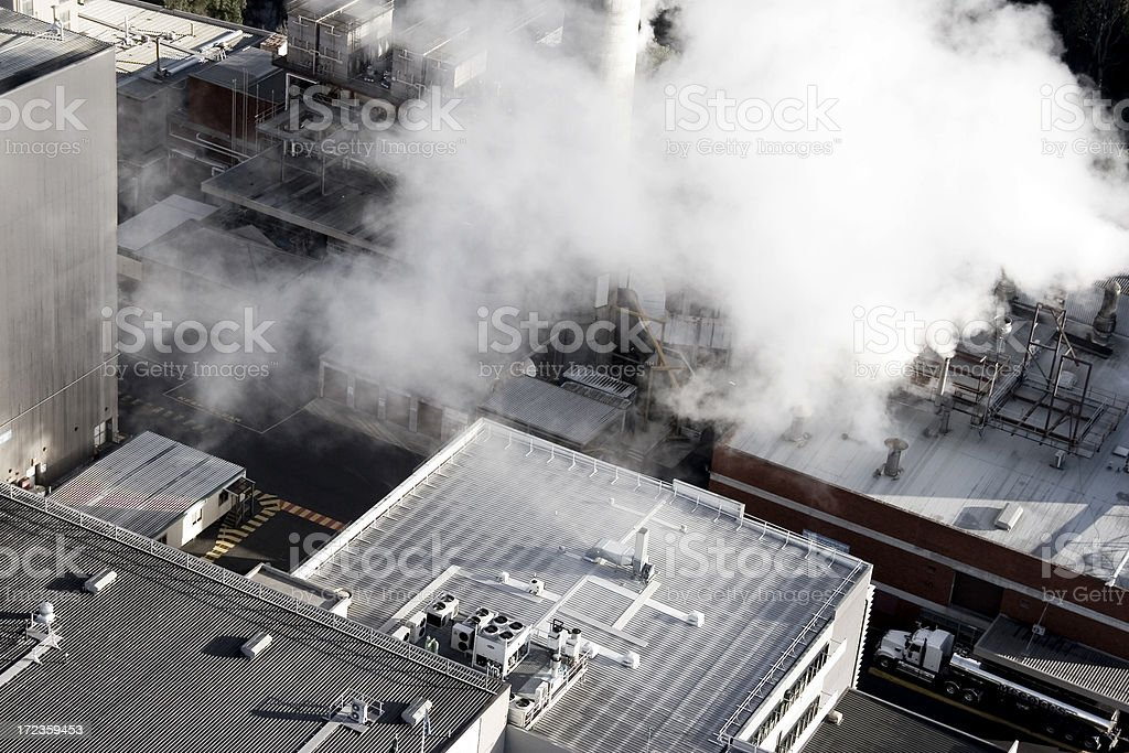 Industrial smoke royalty-free stock photo