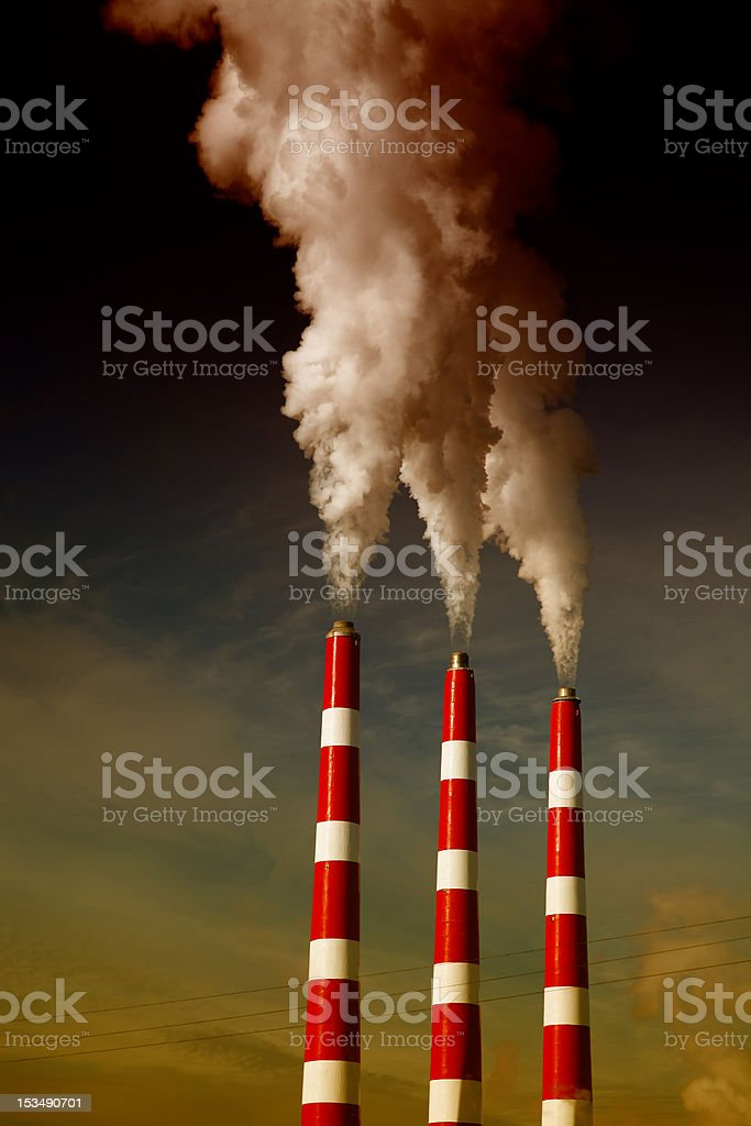 Industrial Smoke Stack royalty-free stock photo