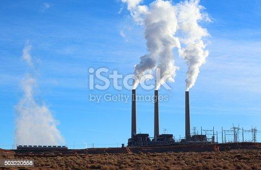 istock Industrial Smoke Stacks 503220558