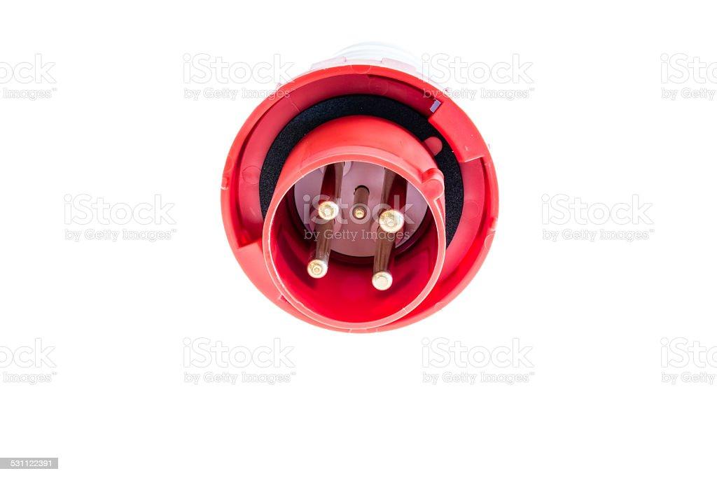 industrial socket 32 ampere stock photo