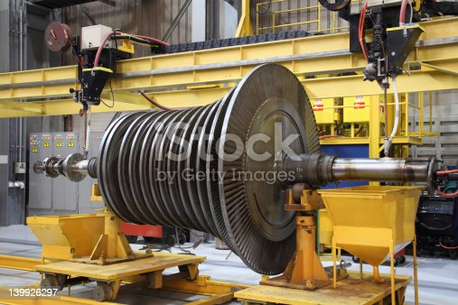 536680742 istock photo Industrial steam turbine at the workshop 139926297