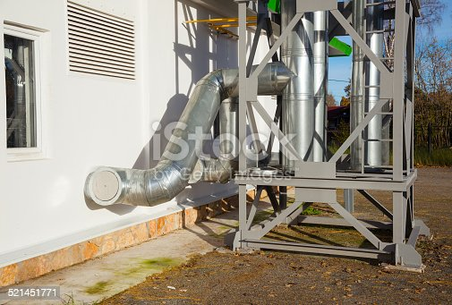 istock Industrial steel air conditioning 521451771