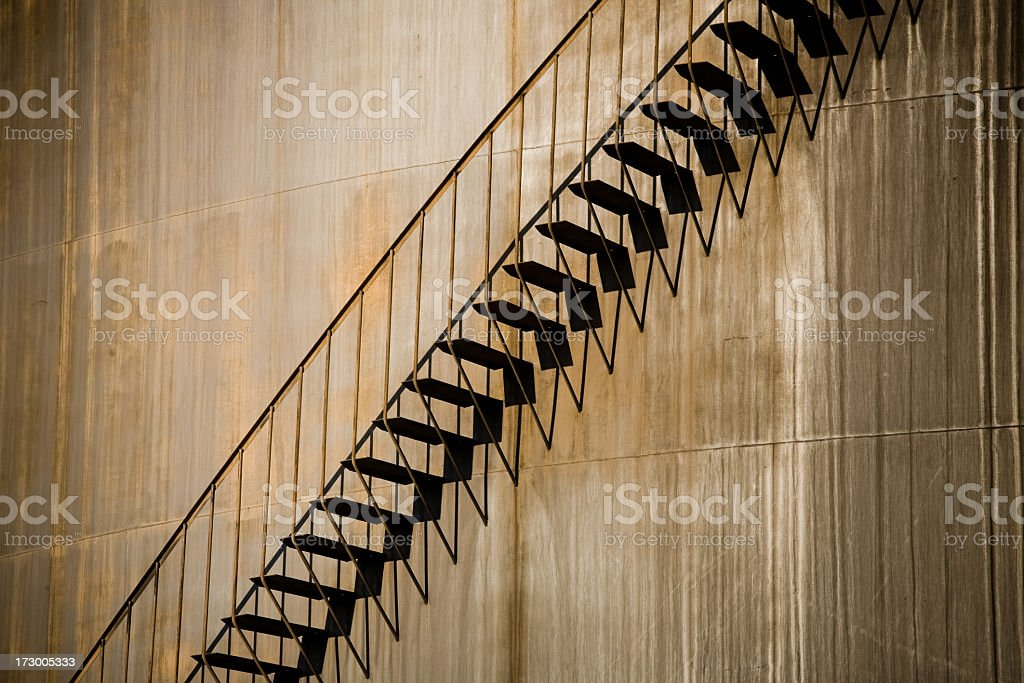 Industrial Storage Tank and Stairs royalty-free stock photo