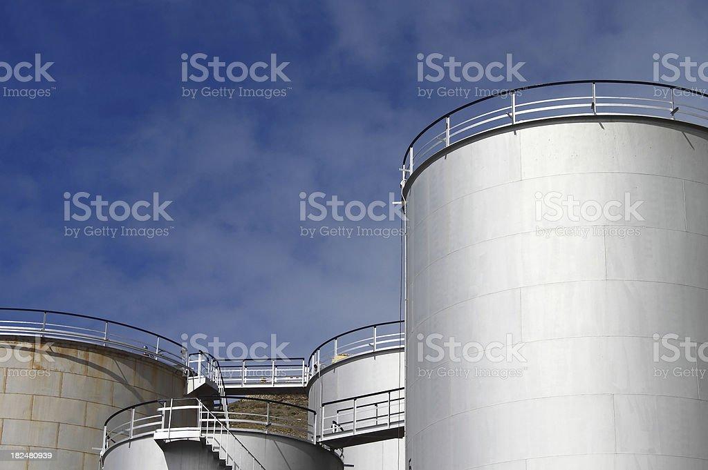 Industrial Storage Tanks royalty-free stock photo