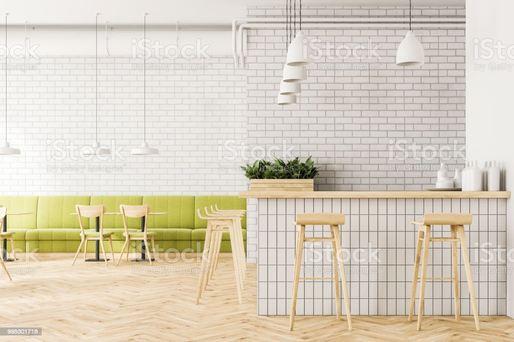Picture of: Industrial Style Cafe Interior Flower Beds Bar Stock Photo Download Image Now Istock
