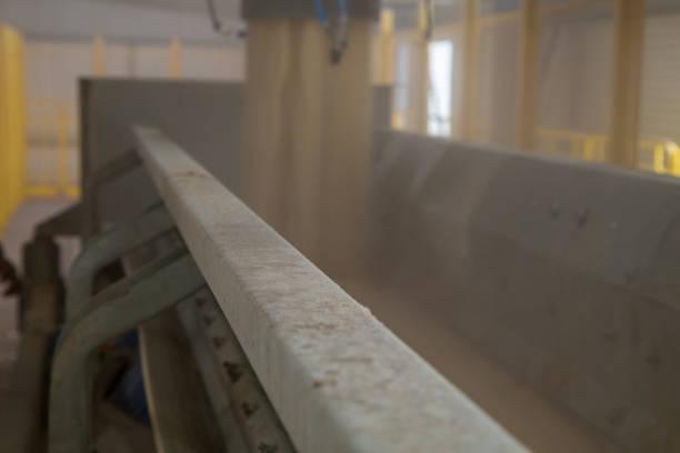 industrial sugar conveyor production line factory cane - zuccherificio foto e immagini stock