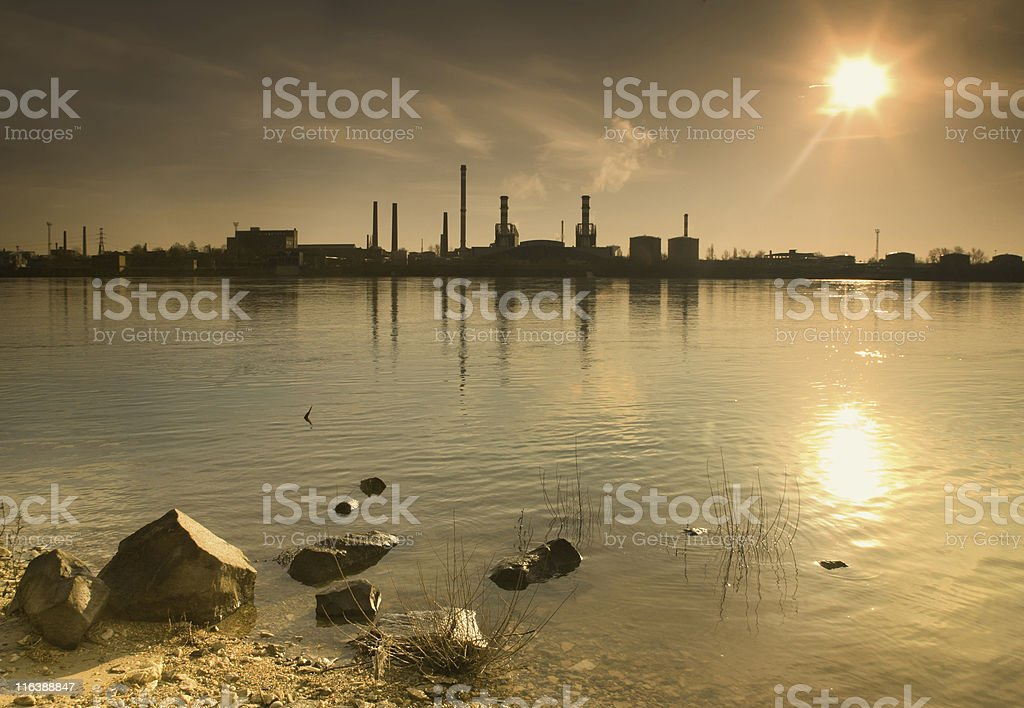 industrial sunrise royalty-free stock photo