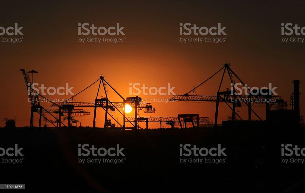 Industrial Sunrise - Royalty-free 2015 Stock Photo