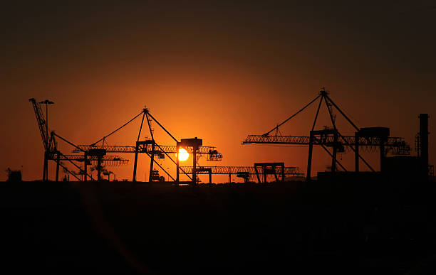 Industrial Sunrise stock photo