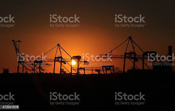 Industrial Sunrise Stock Photo - Download Image Now