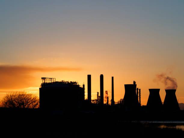 Industrial Sunset stock photo