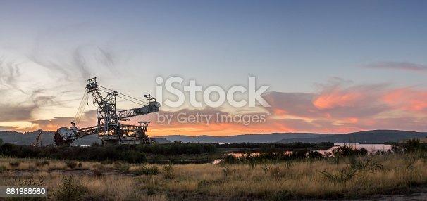 istock Industrial sunset 861988580