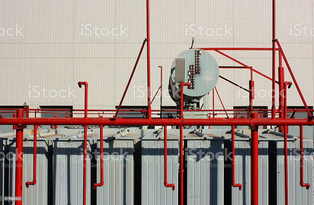industrial tank and pipe royalty-free stock photo
