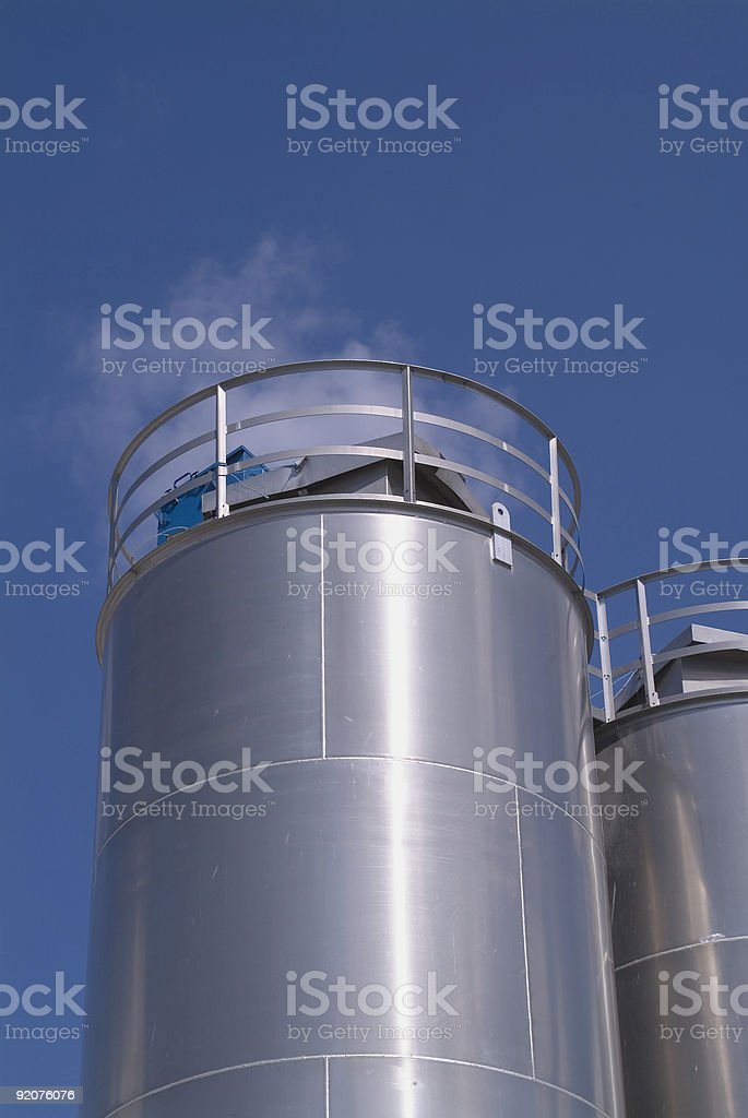 Industrial tanks 1 royalty-free stock photo
