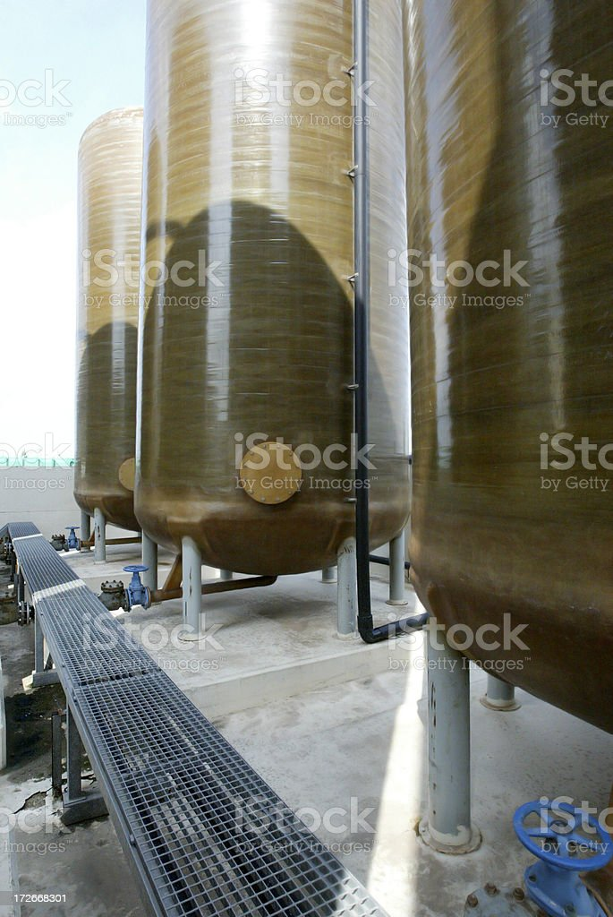 industrial tanks stock photo