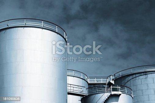 istock Industrial tanks 181090608