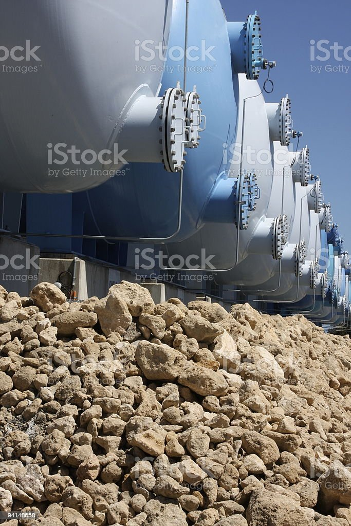 Industrial tanks royalty-free stock photo