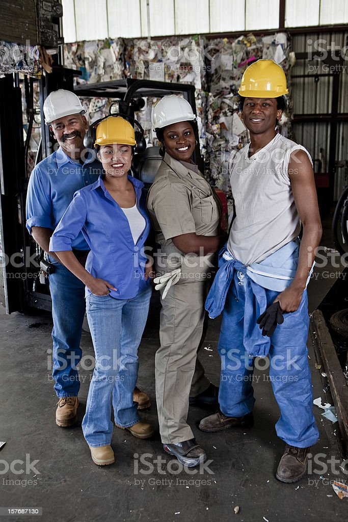 Industrial Team royalty-free stock photo
