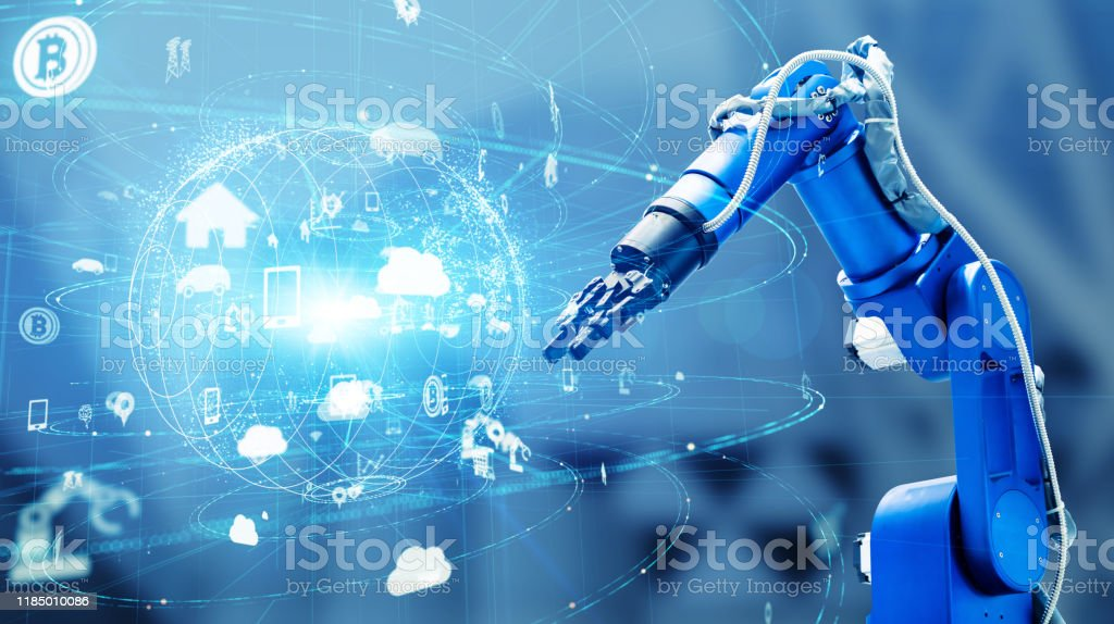 Industrial technology concept. Factory automation. INDUSTRY 4.0 - Royalty-free Abstract Stock Photo