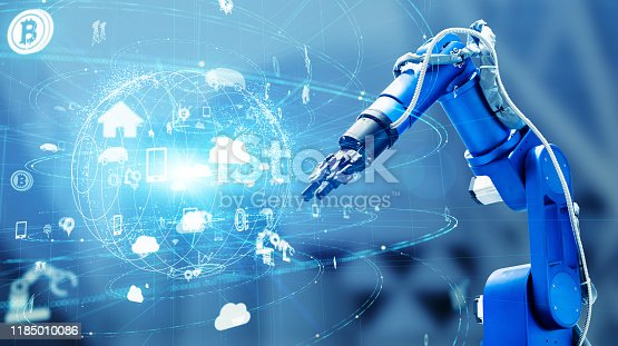 istock Industrial technology concept. Factory automation. INDUSTRY 4.0 1185010086