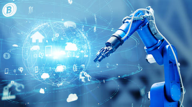 Industrial technology concept. Factory automation. INDUSTRY 4.0 stock photo