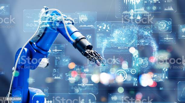 Industrial Technology Concept Factory Automation Smart Factory Industry 40 Stock Photo - Download Image Now