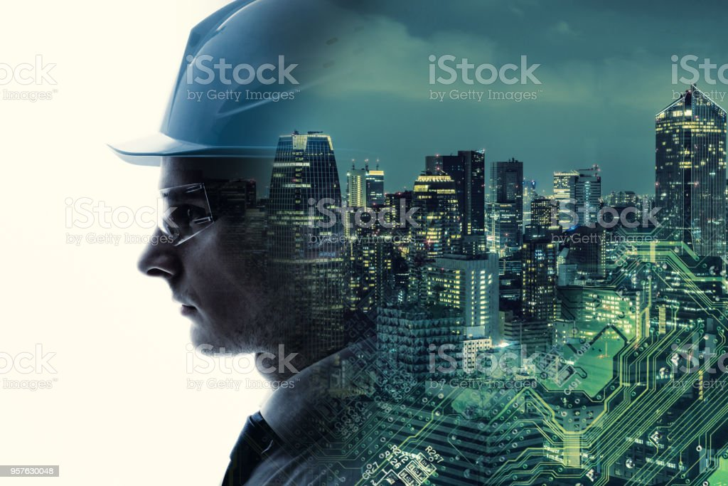 Industrial technology concept. INDUSTRY4.0 royalty-free stock photo