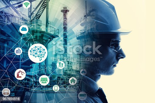 istock Industrial technology concept. INDUSTRY4.0 957654516
