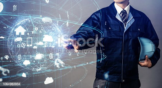 istock Industrial technology concept. 1064980934