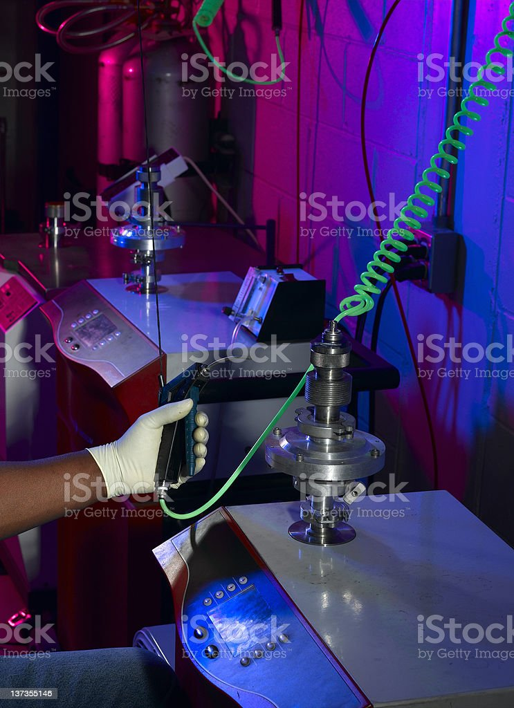 Industrial Testing royalty-free stock photo