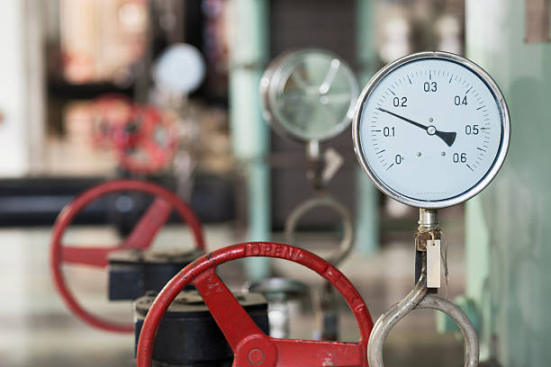 industrial thermometer im boiler-Raum – Foto