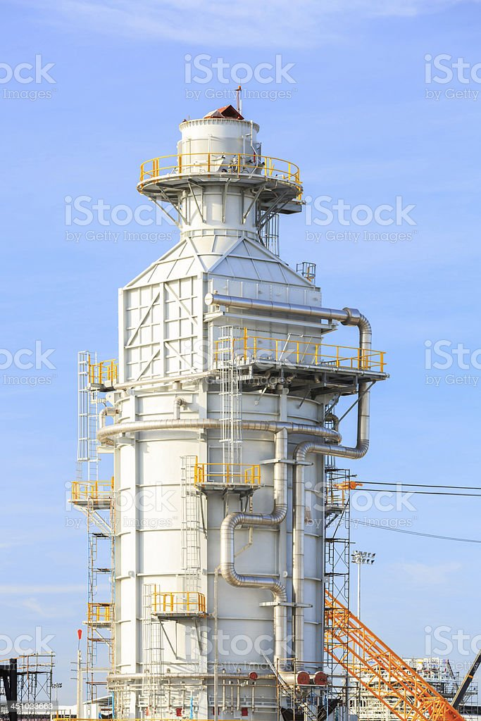 Industrial Tube factory royalty-free stock photo