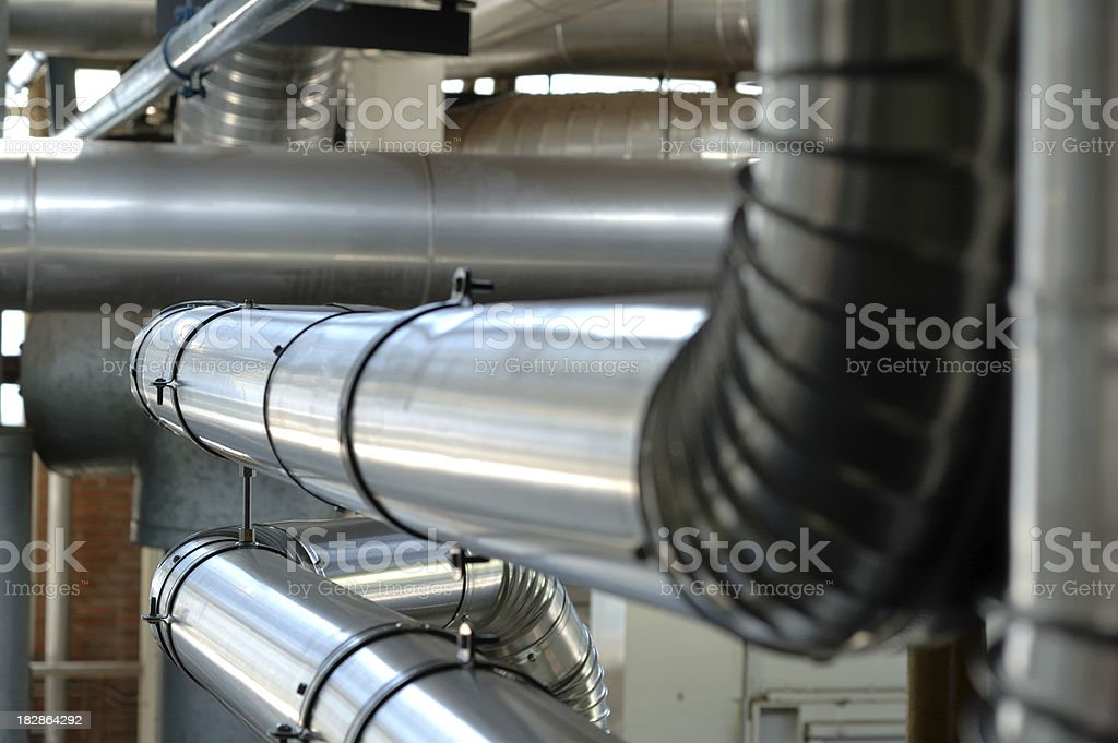 Industrial tubes royalty-free stock photo