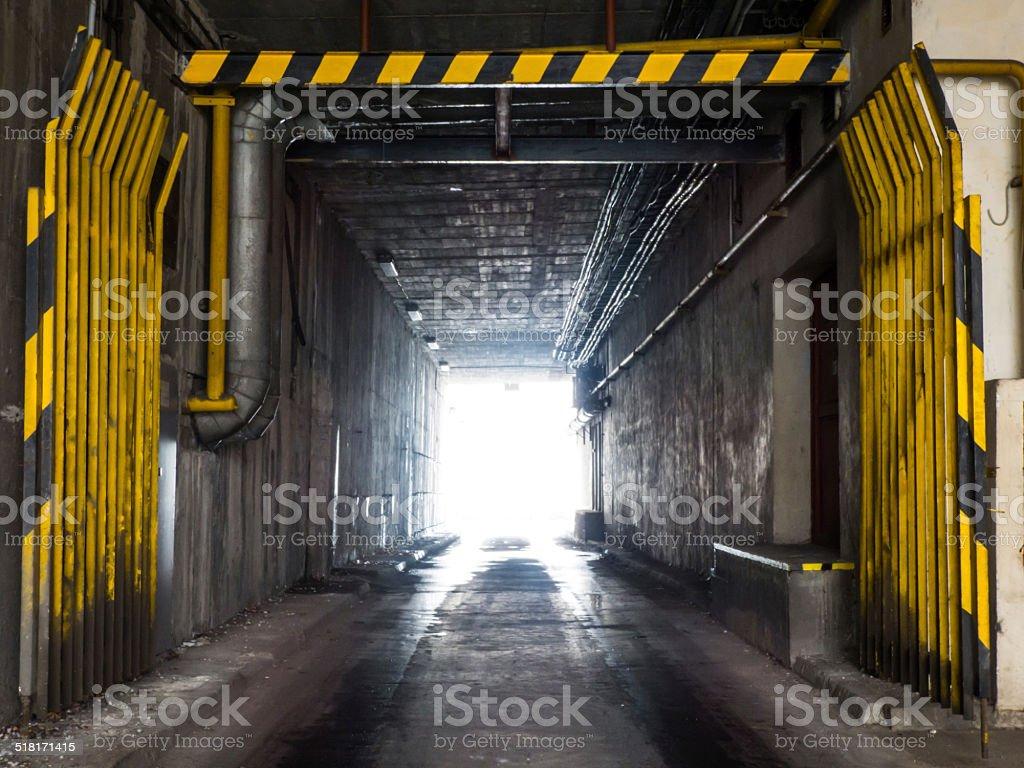 Industrial underpass stock photo