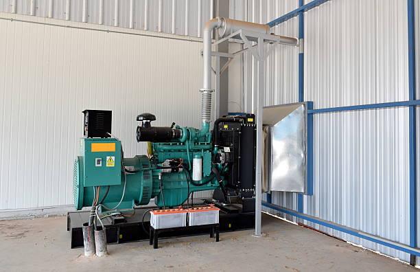 industrial uninterupted power supply. - generator text stock-fotos und bilder