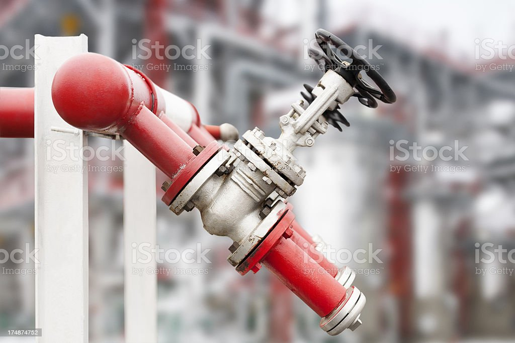 Industrial unit of oil refinery system royalty-free stock photo