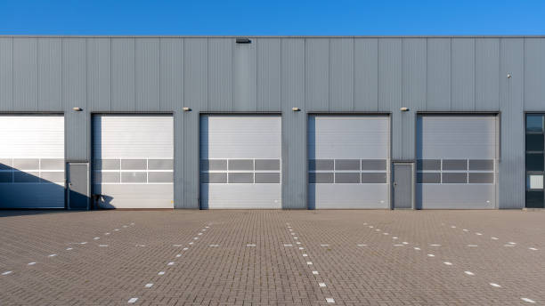 Industrial units stock photo
