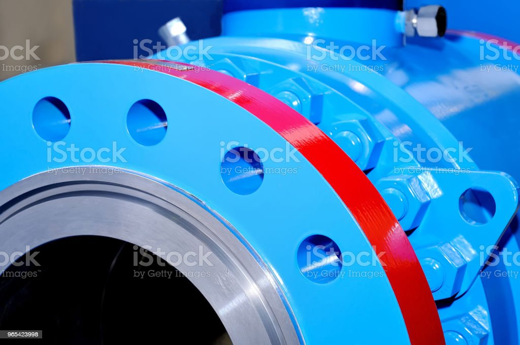 Industrial valve gate for pipelines zbiór zdjęć royalty-free